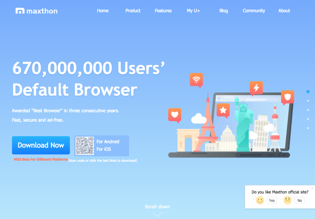 Fast & Secure Browser, Maxthon Cloud Browser I