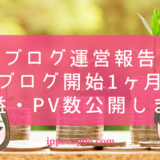 【ブログ運営報告】夫婦ブログ開始1ヶ月目の収益・PV数公開します