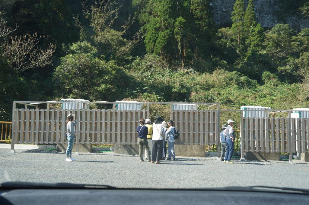 雄川の滝仮設トイレ
