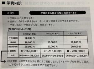 八洲学園大学国際高等学校学費資料の写真