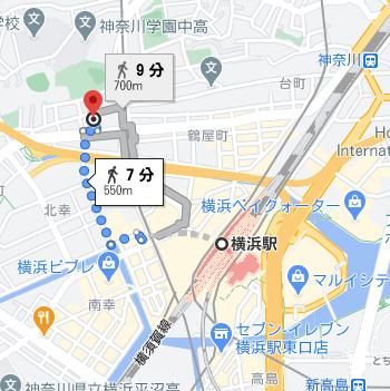 横浜駅から徒歩7分程度の場所にヒューマンキャンパス高校の横浜学習センターがあります