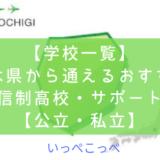 【学校一覧】栃木県から通えるおすすめ通信制高校・サポート校【公立・私立】