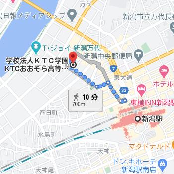 新潟駅から徒歩10分程度と通いやすい場所に新潟キャンパスがあります