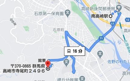 南高崎駅から公共交通機関で16分程度の場所にヒューマンキャンパス高校の高崎学習センターがあります