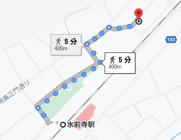 水前寺駅から徒歩5分程度の場所にクラーク高校の熊本キャンパスがあります
