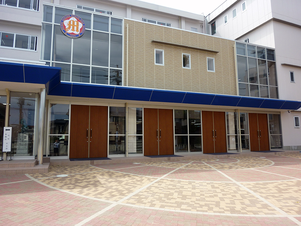 明秀学園日立高等学校の本校の外観