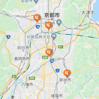 京都市内のキャンパスの位置関係