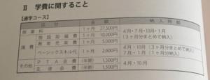 長岡英智高等学校の学費