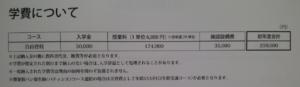 晃陽学園高等学校の学費の画像