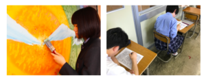 創進高等学校は県内初のデザイン・アートコースの画像
